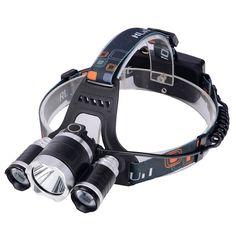 Купить товар2016 Новый, T6Headlamp 6000 Люмен 3 х Cree XM T6 + 2R5 СВЕТОДИОДНЫЕ Лампы отдых на природе Фары Фара с аккумулятором и зарядное устройство в категории Фонари для охотына AliExpress. Best Selling CREE XM-L T6 Headlamp Head Lantern Head Flashlight for Hiking Hunting ClimbingUSD 19.98-26.98/pieceZoom led http://ali.pub/oastd