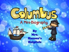 Columbus booklet! Learn about Columbus and his explorations.  www.hansenshelpers.blogspot.com