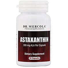 Dr. Mercola Astaxanthin – 30 Capsules – 4mg Astaxanthin, 300mg ALA – Natural Antioxidant: Reduces Free Radicals – Supports Cardiovascular, Nervous & Immune Systems – Improves Aging, Skin, Joints, Eyes