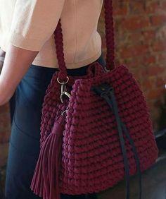 Crochet Backpack, Crochet Tote, Crochet Handbags, Crochet Purses, Diy Crochet, Crotchet Bags, Knitted Bags, Crochet Bag Tutorials, Modern Crochet