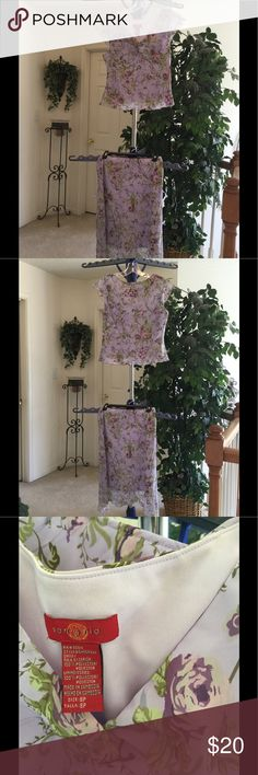 Ladies two piece outfit Beautiful Two piece skirt set just in time for spring and summer. Like new condition. Lilac, purple and olive green colors.  Size 8 petite.  Smoke free and pet free home.  Offers are welcomed.  Bundle and save. Dresses