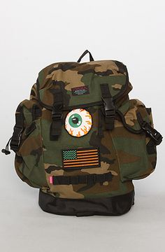 The Hells Bunker Rucksack in Camo by Mishka