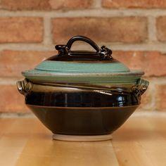 Royce Yoder - Casserole in Copper | Black Glaze - Small
