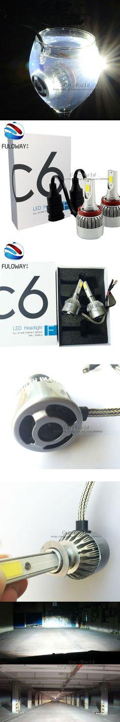 2 X H7 CREE LED COB Chips Headlights Auto Car 12V 72W 7600LM Fog Headlight Conversion Driving Bulb Car Light Source Car Styling