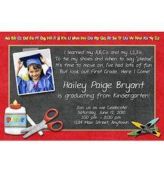 LOVE this idea for a preschool/kindergarten graduation party
