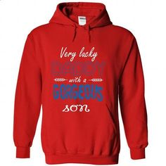 Limited Edition Very lucky Daddy with a gorgeous son - #tshirt text #sweater weather. ORDER HERE => https://www.sunfrog.com/No-Category/Limited-Edition-Very-lucky-Daddy-with-a-gorgeous-son-Red-28123191-Hoodie.html?68278