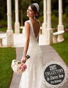 Style 6037 - Low-back Lace #StellaYork #SoStella #SneakPeek #Spring2015 #WeddingDress #fabuLACE