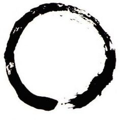 """""""The Enso"""" Zen Circle. The universal symbol of wholeness and completion, the cyclical nature of existence, and a visual manifestation of the Heart Sutra, """"Form is emptiness, emptiness is form."""""""
