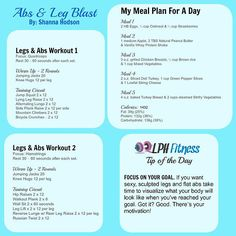 LPH Fitness | Question & Answer with Shanna - How do I get toned legs and a flat stomach?