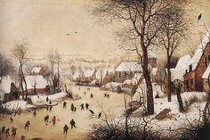 L'inévitable hiver - Histoire - France Culture Paysage d'hiver avec patineurs de Pieter Brueghel 1565