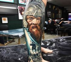 Gimli tattoo by Ben Kaye