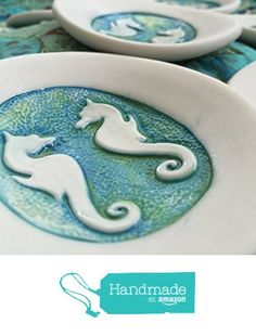 Ceramics Starfish//Coral//Sea Horse//Boat Anchor Tray Ring Dish Jewelry Dish Trinket Tray Dish Holder