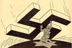 Batalla mundial contra los judíos. En un premonitorio dibujo en un diario inglés. Fuente: Daily Express (Londres), 14 de noviembre de 1938.