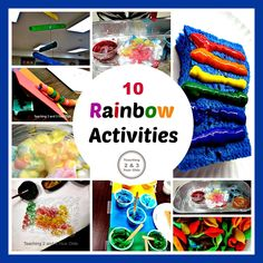 Teaching 2 and 3 Year Olds: 10 Fun Rainbow Activities for Toddlers and Preschoolers