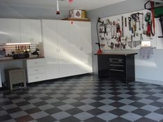 garage - flooring a little over the top