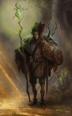 m High Elf Druid Medium Armor Shield Cloak Staff Wand male Mixed Forest Hills community ArtStation by Bill Washington lg Dungeons And Dragons Characters, Dnd Characters, Fantasy Characters, Fantasy Warrior, Fantasy Rpg, Fantasy Artwork, Character Portraits, Character Art, Dnd Druid