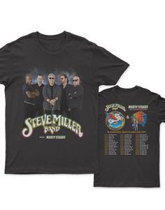 Steve Miller Band With Marty Stuart Tour Dates 2019 New 2 sides T-shirt - MyPopTees Concert Shirts, Tee Shirts, Marty Stuart, Steve Miller Band, Music Tours, News 2, Dates, Concert Tees, T Shirts