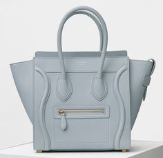 Check out Celine& Spring 2016 bags now! (Which are actually Resort 2016 bags; it& complicated. Celine Micro Luggage, Leather Luggage, Celine Bag, Luxury Handbags, Designer Handbags, Leather Handle, Pebbled Leather, Medium, Ebay
