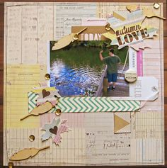 Autumn themed scrapbook layout by Christy Strickler, My Scrapbook evolution Love Scrapbook, Scrapbook Pages, Fall Season, Page Design, Scrapbooking Layouts, Really Cool Stuff, Falling In Love, Evolution, Diy Crafts