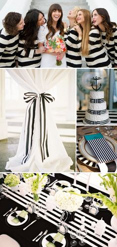 Fun Stripes-Inspired Wedding Ideas! Not a fan of the bridesmaids dress. But I like the stripes!