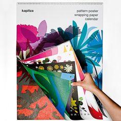 Verlag Hermann Schmidt KAPITZA Geschenkpapierkalender - Design-Kalender - Grafikdesign und Literatur   selekkt.com