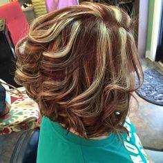 Red and blonde hilights Hair Colors, Hair Ideas, Hair Makeup, Barn, Dreadlocks, Hairstyles, Lights, Long Hair Styles, Sexy