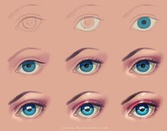Eye - step by step by Yuuza on DeviantArt