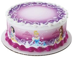3 Strips of Disney Princess GLAMOUR Edible Cake Borders Topper Birthday Party Supplies Cinderella, Belle, Tiana, Sleeping Beauty Happy Birthday Disney Princess, Princess Party, Cake Borders, Princess Cupcake Toppers, Order Cake, Frozen Disney, Disney Cakes, Just Cakes, Cake Images