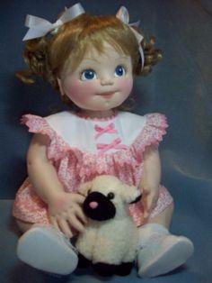 Elaine, un patrón de muñeca de bebé de 20 pulgadas.  Articulados los brazos y piernas.  La muñeca debe hacerse de la tela del knit.