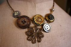 Maybe not exactly this necklace...but keep in mind for button project ideas
