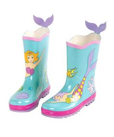 Loving this Kidorable Aqua Mermaid Rain Boot on #zulily! #zulilyfinds