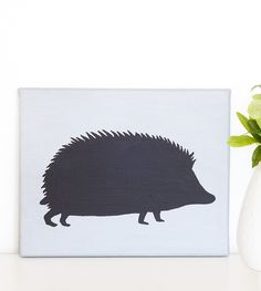 Hedgehog Silhouette | Nursery Wall Decor | Ben Pinder – Brimful