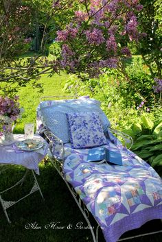 Aiken House & Gardens: Relaxing Under the Lilacs