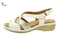 Chaussure femme confort en cuir Piesanto 8812 sandale semelle amovible  confortables amples - Chaussures piesanto ( 0cf034012922