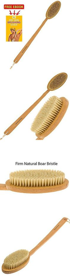 Bath Brushes and Sponges: Brusybrush Extra Long Handle Bath Brush - Beech Wood Handle And Natural Boar ... -> BUY IT NOW ONLY: $36.69 on eBay!