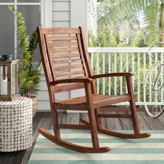 Beautiful Rothstein Outdoor Rocking Chair by Beachcrest Home Patio Garden Furniture from top store Teak Garden Furniture, Used Outdoor Furniture, Furniture Sale, Painting Furniture, Rustic Furniture, Furniture Ideas, Antique Furniture, Glider Rocking Chair, Outdoor Rocking Chairs