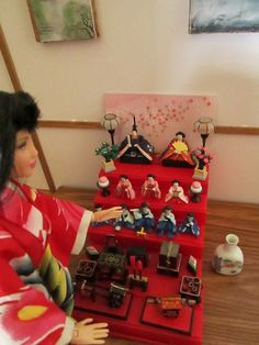 of the Ceremonial dolls for Hinamatsuri, or the Japanese doll festival on March 3rd