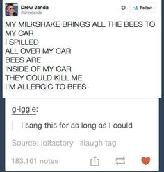milkshakes are bee food, pass it on