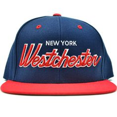 If I was from Westchester I'd definitely cop this.  Image of Westchester NY NAVY & RED SNAPBACK