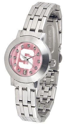 Michigan State Spartans Ladies Dynasty Watch With Mother Of Pearl Dial