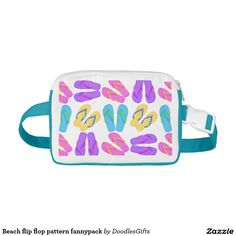 Beach flip flop pattern fannypack Cap-Sac fanny packs
