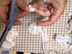 Shabby Chic Doily Flower, Laces flowers & Rose - jennings644 - YouTube