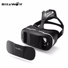 Vr Headset with Remote Controller BlitzWolf Goggles Glasses Virtual Reality Headset for iphone 6 7 Plus Samsung Android Games Movies Compatible with inch Screens Mobile Phone Sale, Samsung Accessories, 3d Glasses, Virtual Reality Headset, Vr Headset, Watch Bands, Iphone 6, Remote, Smartphone