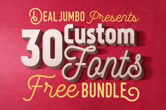 No time for download all these amazing fonts separately? No problem at all. We have this FREE bundle for you with 30 cool customs fonts. Download & enjoy ;)Dealjumbo Free Bundle vol.5 contains 30 amazing custom fonts from 21 talented designers for FREE …