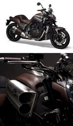 Yamaha VMax dressed in leather by Hermès