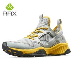 Rax Men Running Shoes Breathable Outdoor Shoes for Jogging Lightweight Trekking Shoes Women Anti-slip Outdoor Sneakers for Men Lacing Shoes For Running, Trekking Shoes, Comfortable Sneakers, Sneaker Brands, Sports Shoes, Hiking Boots, Slip, Store, Larger