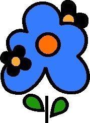 Alfabeto de flores pop.