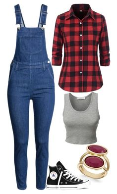 Untitled #151 by twenty4pineapples on Polyvore featuring LE3NO, H&M, INC International Concepts and Converse