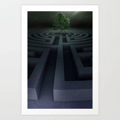The maze Art Print by Jordygraph - $15.60