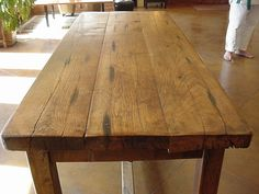 Early American Antique Primitive Style Plank Wood Table Bruce Willis Demi Moore   eBay